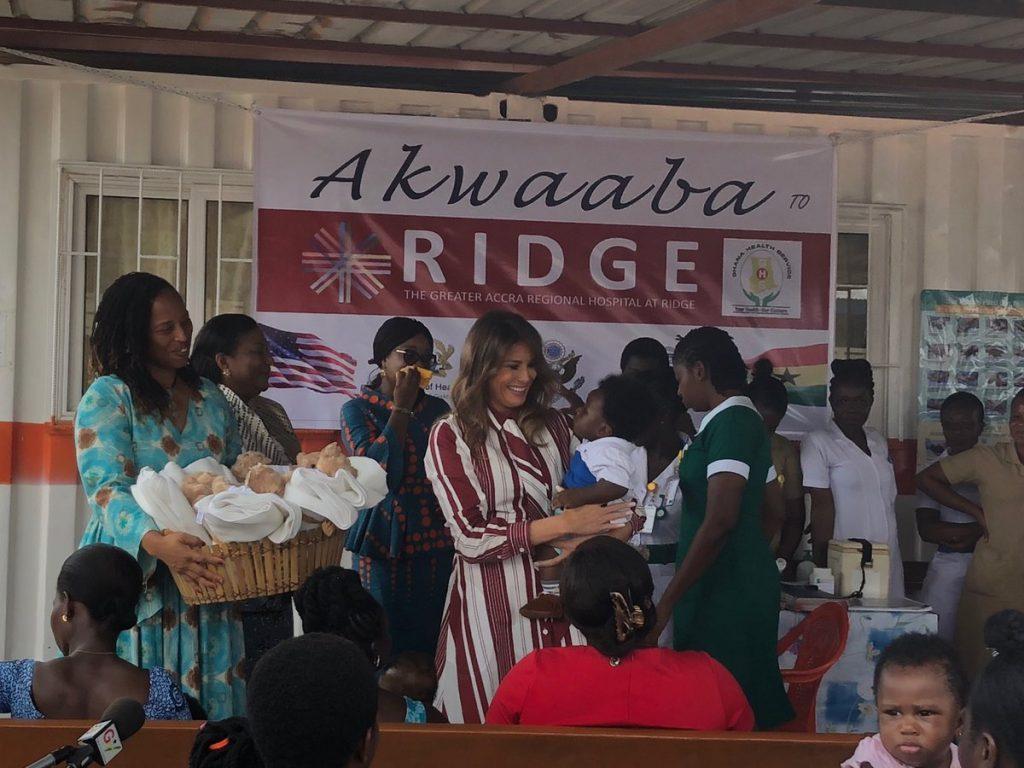 Melania Trump arrives in Ghana on her first solo trip as FLOTUS