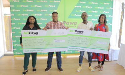 betPawa presents GH¢45,952 to two jackpot winners