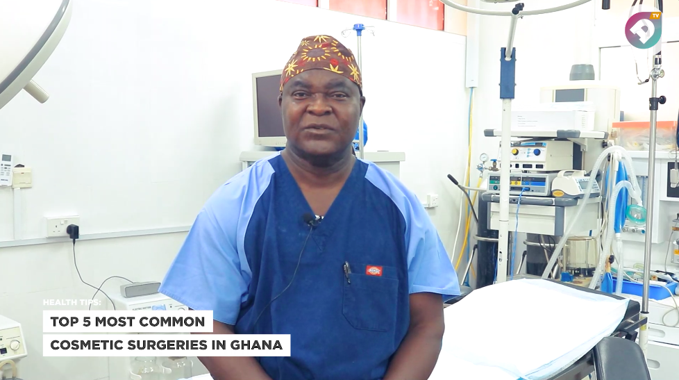 Dr. Kwasi A. Debra, Lead Surgeon at the Centre for Cosmetic Surgery Ghana, revealed exclusively on Ameyaw TV the  Top 5 most common cosmetic surgeries Ghanaians are going in forDr. Kwasi A. Debra, Lead Surgeon at the Centre for Cosmetic Surgery Ghana, revealed exclusively on Ameyaw TV the  Top 5 most common cosmetic surgeries Ghanaians are going in for