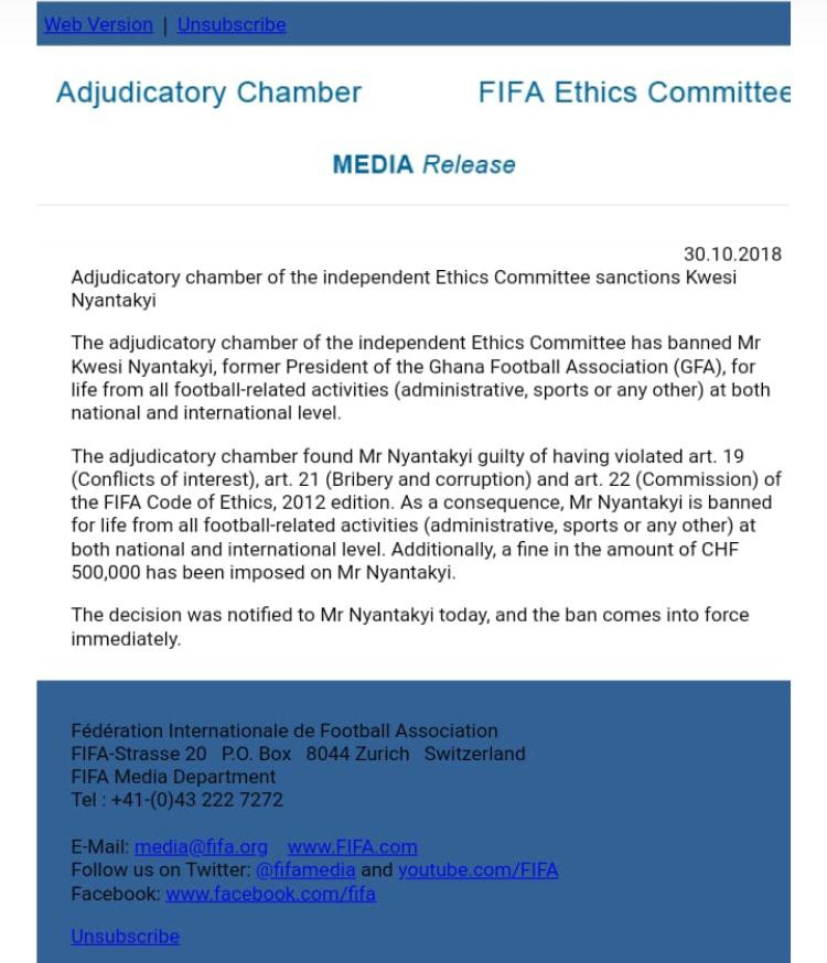 Kwesi Nyantakyi fined GHc2.4 million, banned for life from football over #Number12