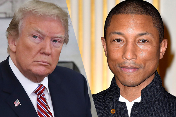 Pharrell Williams orders Donald Trump to stop playing his music at rallies