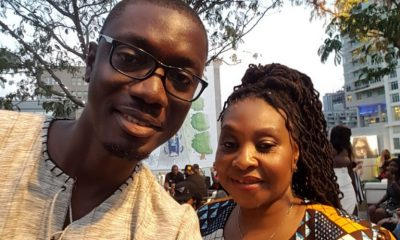 Ameyaw Debrah with Yvonne Chaka Chaka