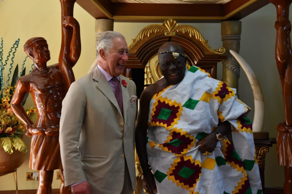 The Asantehene has a long standing relationship with the British Monarchy having met The Prince of Wales in Glasgow where they both received honorary degrees.