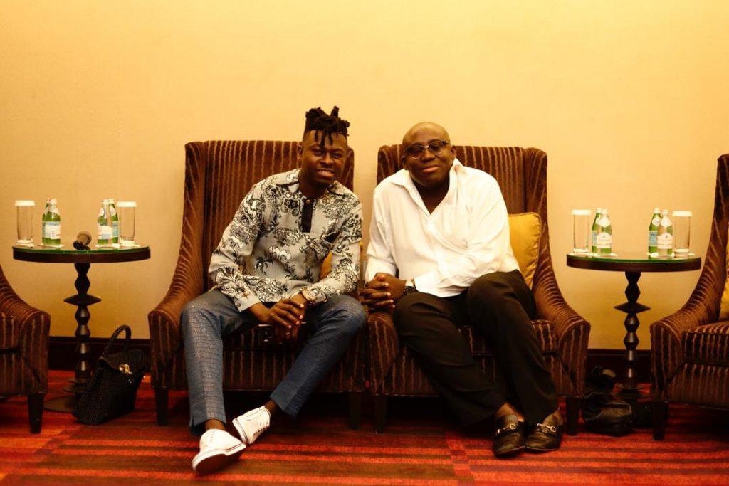 Kwaku Bediako with Editor of the British Vogue magazine, Edward Enninful,
