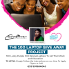 Caroline Esinam Adzogble launches the 100 laptop giveaway project to aid students and young entrepreneurs.