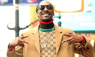 Snoop Dogg receives star on Hollywood Walk Of Fame, thanks himself in acceptance speech.
