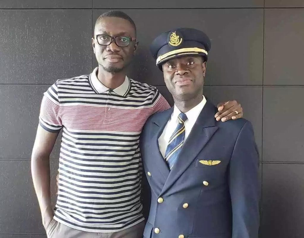 Ameyaw Debrah with Captain Solomon Quainoo