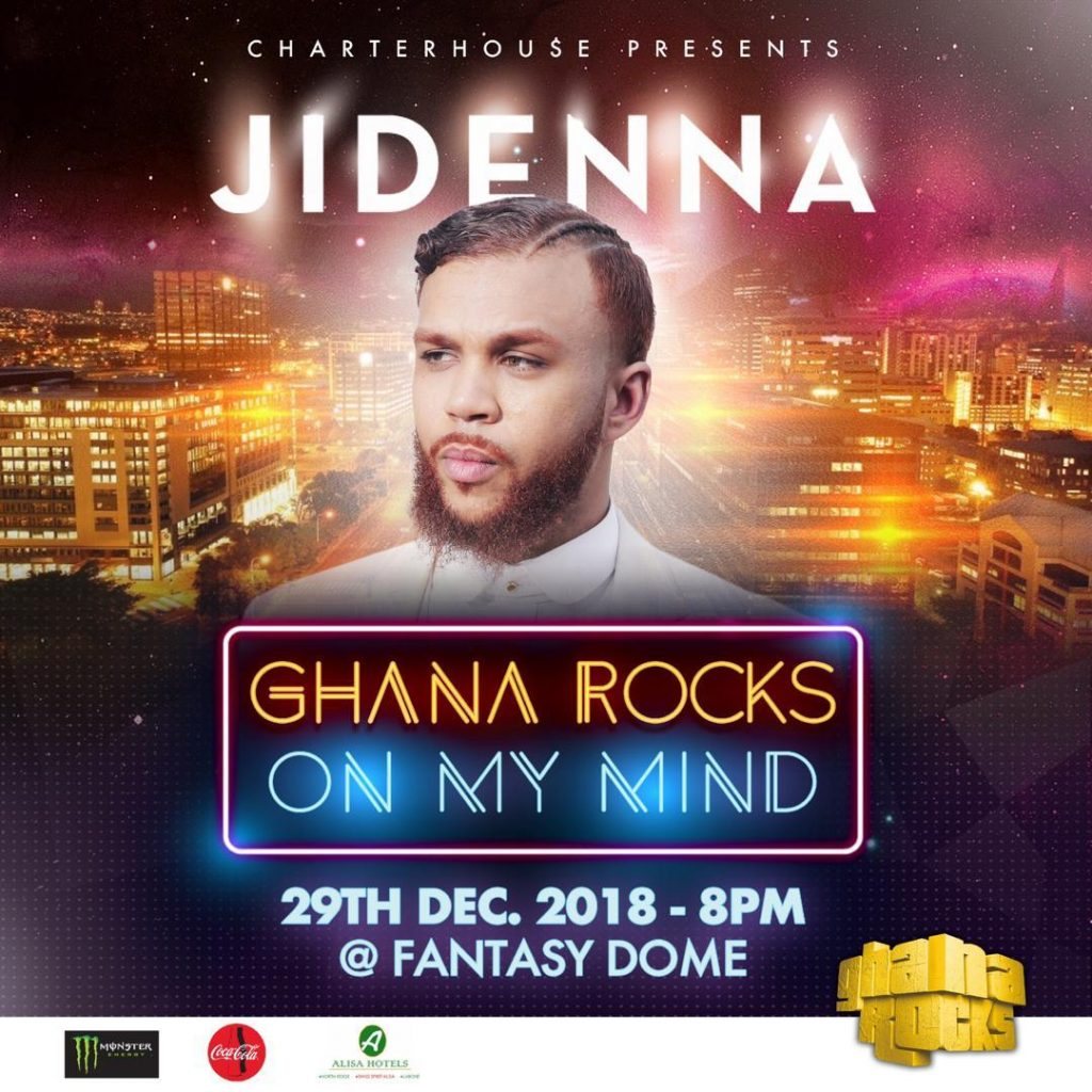 Ghana Rocks returns with Jidenna, Fuse ODG, R2bees, Burna Boy and more... December 27