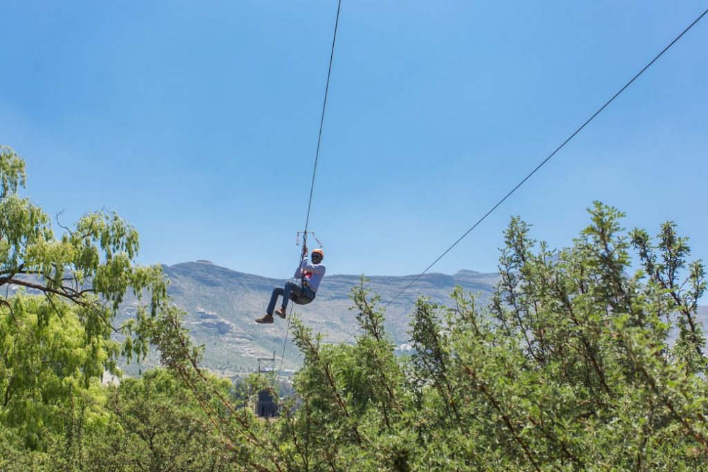 Ziplining at Clarens