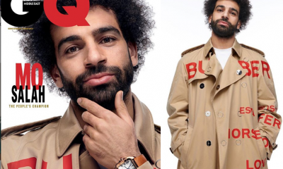 Photos: African best footballer Mohamed Salah covers GQ Magazine