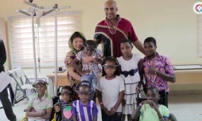 Boris Kodjoe, Djimon Hounsou and others spend New Year's eve with children at Focos Hospital