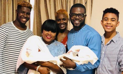 Photo: Actress Funke Akindele shares first photo of her twins