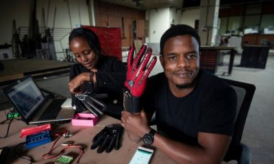 25-year-old Kenyan creates world's first smart gloves that convert sign language into audio