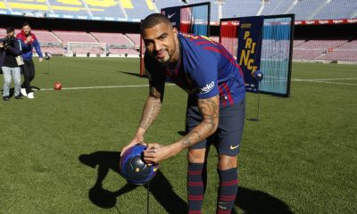 WATCH: Kevin Prince Boateng's unveiling as he becomes the first Ghanaian to wear the FC Barcelona jersey