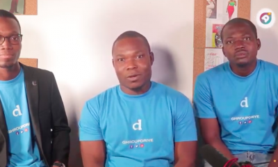 Left to right: Ghroupdrive Campus Lead, CEO Patrick Kumah, Marketing and Design Lead Osei-Tutu Agyemang Prempeh