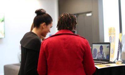 Photos: Meghan Markle skypes delighted university student in Ghana
