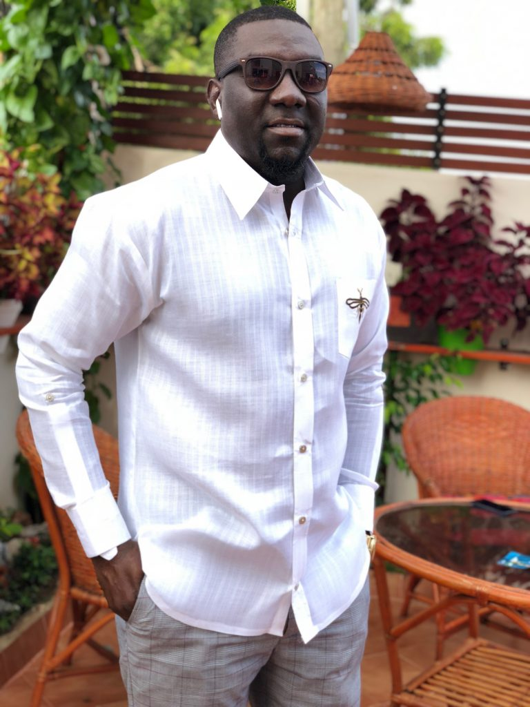 Mahama Yussif owner of Harmony Trends and almost certainly one of Ghana s finest bespoke tailors.